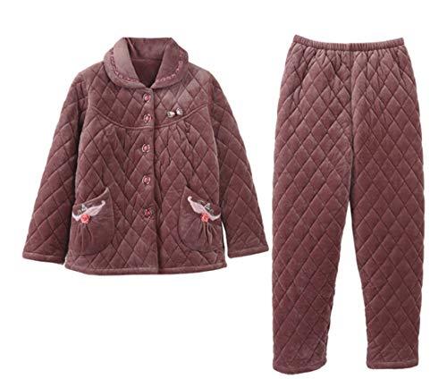 Otoño Invierno 58 168cm Pajamasx Mujer Para De Servicio 65kg Terciopelo Pijamas A Engrosamiento Xxxl170 75 178cm Franela E 85kg Xl162 Tamaño Domicilio Coral Madre Conjunto Gran AxgYq8A