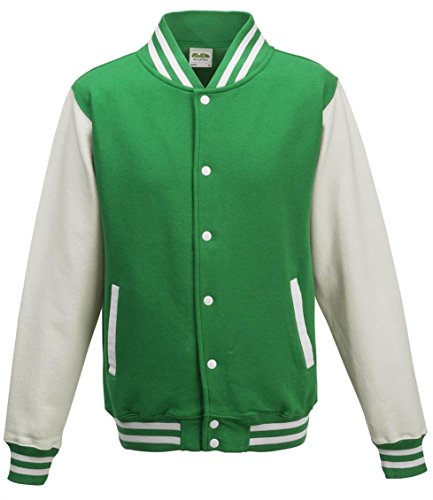 Sleeves Manga Green AWDis Larga Universidad De Hombres White Chaqueta Chaqueta Zn4qAOw