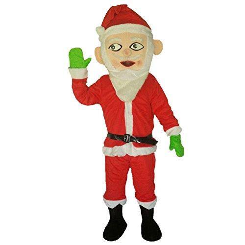 Santa Claus Mascot Costume Cartoon Halloween Party Dress Adult -