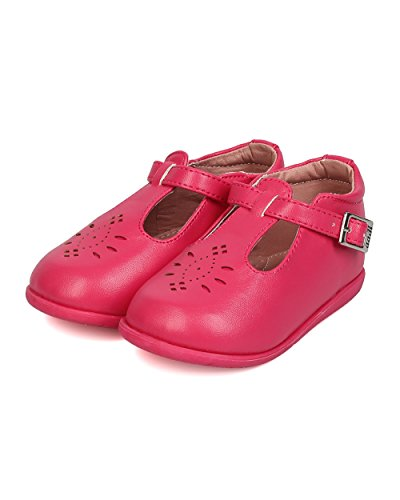 Pictures of Aadi Leatherette Round Toe Perforated T-Strap aadi_emma880pu_fsh_i3 2