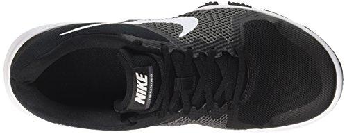 Nike Heren Flex Control Lage Sneaker Met Vetersluiting, Zwart / Wit-donkergrijs