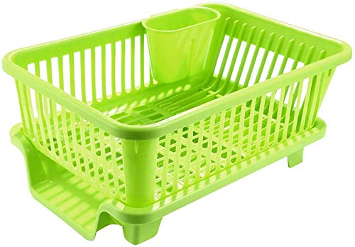 Latiq Mart Plastic Kitchen Sink Dish Drainer Drying Rack Washing Holder Basket, Random Colour, 45 x 24 x 18 cm Price & Reviews