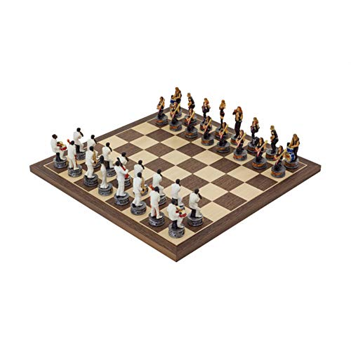 (Regencychess The Jazz Band Vs Rock Stars Hand Painted Themed Chess Set by Italfama)