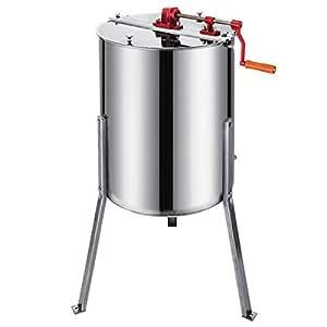 BuoQua - Extractor de miel manual de 61cm, para 4panales de miel, de acero inoxidable
