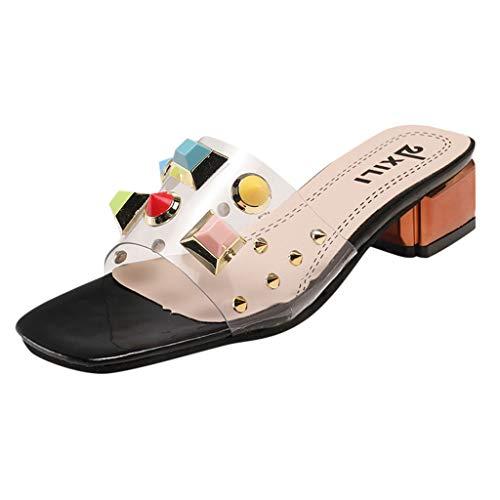 FAPIZI Summer Cool Slippers Female Rivet Rhinestone Low Wedges Sandals Casual Shoes Indoor Outdoor Slippers Flip Flops Black