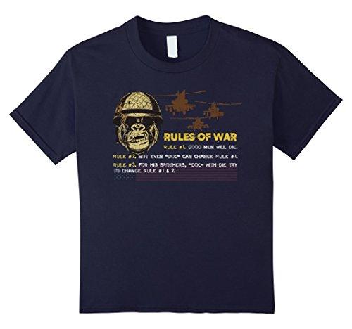Kids Veteran T Shirt - Rules of War T Shirt 12 (Doc Holiday Halloween)