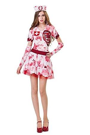 Disfraz enfermera Deadly 3d adulto, XS: Amazon.es: Hogar
