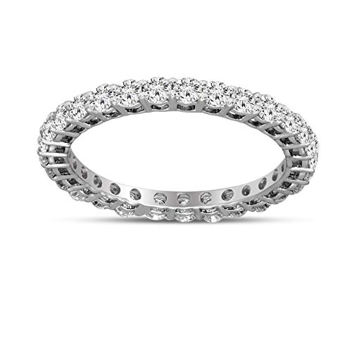 - Luxury Eternity Diamond Ring 1 1/4 cttw IGI Certified Lab Grown Diamond Engagement Rings For Women Lab Created Diamond Rings SI-GH Quality 10K Real Diamond Band Rings Diamond Jewelry Gifts For Women