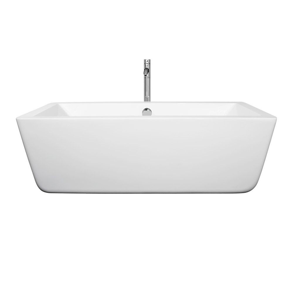 Wyndham Collection Laura 59 inch Freestanding Bathtub for Bathroom ...