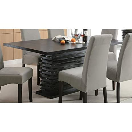 coaster home furnishings stanton modern contemporary wave design rectangular dining table black - Modern Contemporary Dining Table