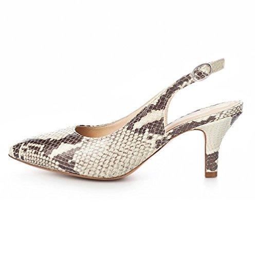 Tobillo con de Zapatos Kolnoo 6 Snake Correa Mujer 5cm FCqRwITw