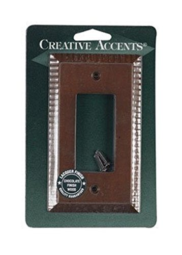 Creative Accents Wood Wall Plate - Creative Accents Wood Finish Wall Plate