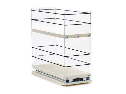 Vertical Spice 4x2x11 Durable Coated 2 Shelves Storage Organizer Drawer