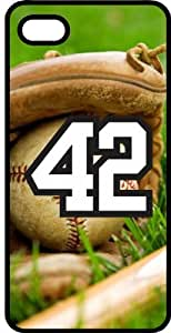 Baseball Sports Fan Player Number 42 Black Rubber Decorative iPhone 6 Case
