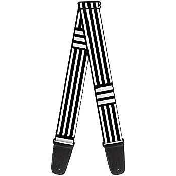 buckle down guitar strap stripe blocks black white 2 wide 29 54 length. Black Bedroom Furniture Sets. Home Design Ideas