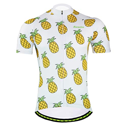 Uriah Women's Bicycle Jersey Short Sleeve Reflective Pineapple Size M ()