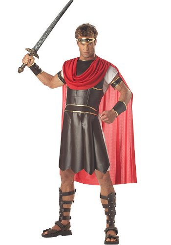 Greek Mythology Costumes (California Costumes Men's Adult-Hercules, Brown/Red, XL (44-46) Costume)