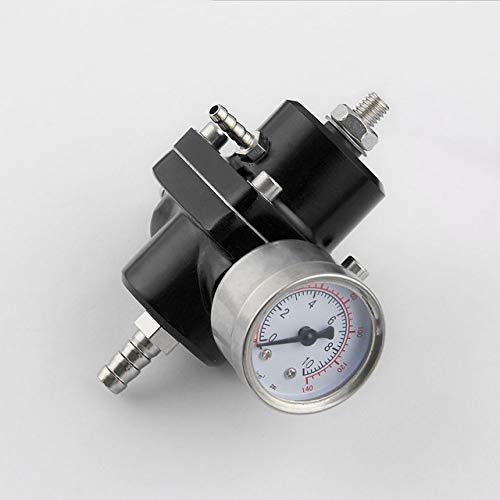 elegantstunning Car Fuel Pressure Regulating Valve Fuel Pressure Regulator 4-way Supercharger,Black: