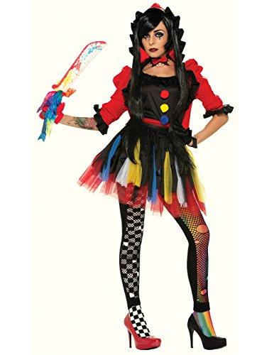 Forum Novelties Women's Twisted Attraction Clown Costume, Multi, Medium/Large