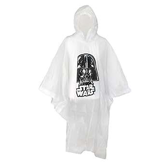 Disney adulto Star Wars Darth Vader claro lluvia Poncho - Transparente -