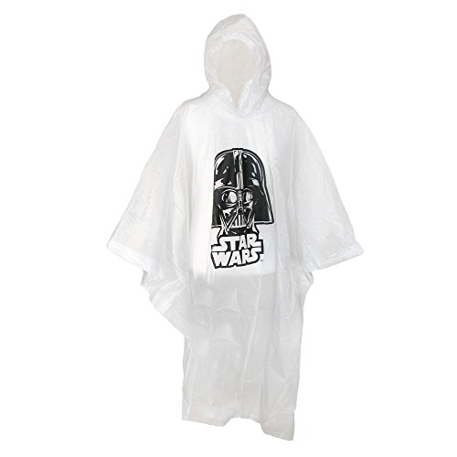 Disney Adult Star Wars Darth Vader Clear Rain Poncho