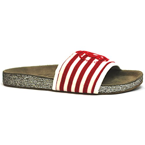 Juicy Couture Sandalias con logotipo de Jc multicolor - rojo/blanco