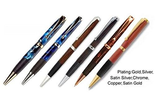 6 comfort kits: gold silver satin silver chrome copper satin gold for pen turner (Comfort Pen Kit)