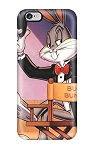Rugged Skin Case Cover For Iphone 6 Plus- Eco-friendly Packaging(bugs Bunny)