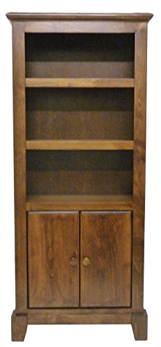 Oak Veneer Shaker (Shaker Bookcase w/ Lower Doors Antique Alder)