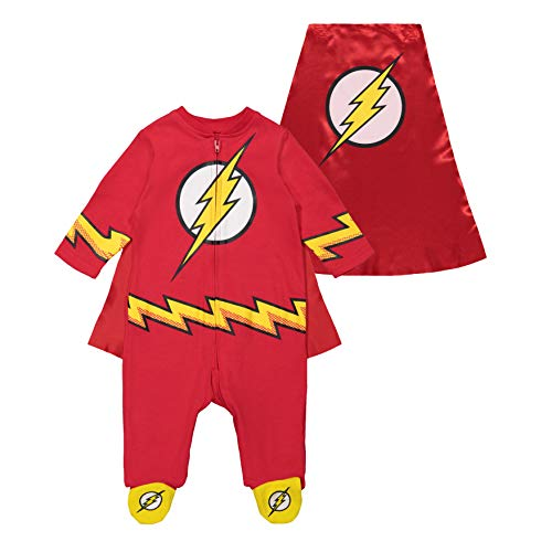 Warner Bros. Justice League The Flash Baby Boys' Costume Coverall Footies & Cape (0-3 Months) ()