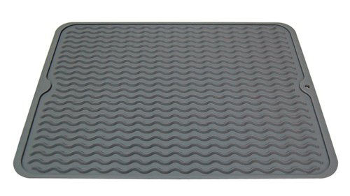 Wave Silicone (REAL HOME Innovations 009-09090 Silicone Wave Drying Mat, Cool Gray)