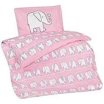Aminata Kids Kinder Bettwäsche 100 X 135 Cm Elefant En Motiv Tier
