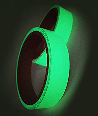 3 Rolls Luminous Bright Tape Sticker Removable Adhesives Waterproof Fluorescent Safety Photoluminescent Tape Tools Home Improvement Painting Supplies Wall Treatments Masking Tape (118 x 0.8 Inch)