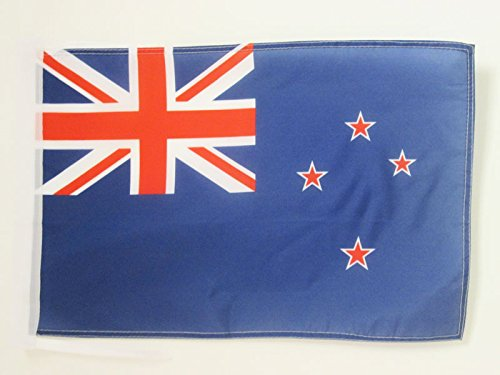 AZ FLAG New Zealand Flag 18'' x 12'' Cords - New Zeleander -Kiwi Small Flags 30 x 45cm - Banner 18x12 in