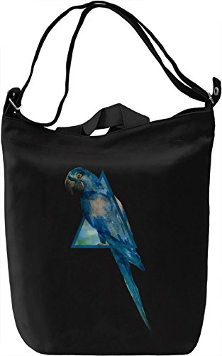 Hipster Parrot Borsa Giornaliera Canvas Canvas Day Bag| 100% Premium Cotton Canvas| DTG Printing|