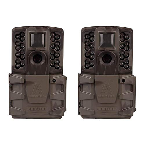 Moultrie A-40 Pro 14MP Low Glow Long Range Infrared Game Trail Camera (2 Pack)