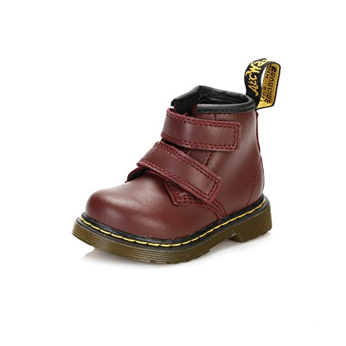 Dr. Martens Baby Brooklee BV-K, Cherry Red, 3 UK (4 M US 4 Toddler)