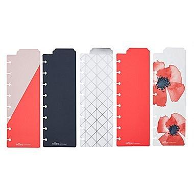 Martha Stewart Discbound Bookmark Dividers, 5-pack, Persimmon (44907)