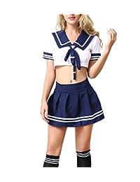 ANJAYLIA Women Lingerie Schoolgirls Outfit Lingerie