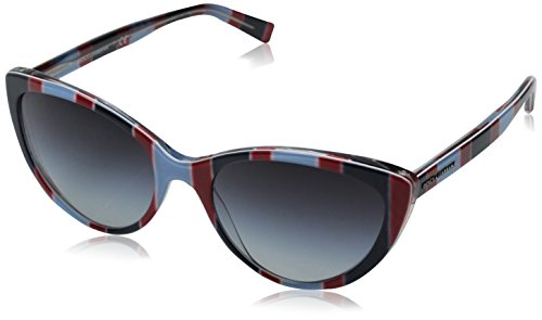 D&G Dolce & Gabbana 0DG4181P 27198G56 Cat-Eye Sunglasses,Stripes Azure & Red,56 - Sunglasses Eye D&g Cat