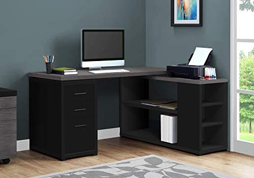 Monarch Specialties Computer Desk L-Shaped Corner Desk with'storage