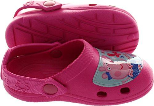 Peppa Pig Fuchsia Pink Beach Clogs Kids Sizes 5 to 10