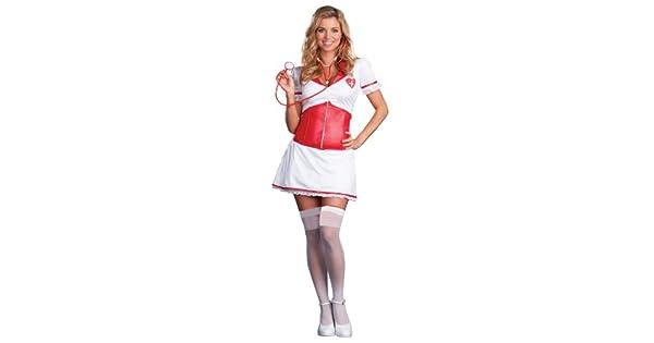 Amazon.com: Disfraz de enfermera sexy para mujer, traje de ...