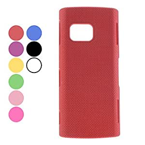 Mesh Design Hard Case for Nokia X6 (Assorted Colors) --- COLOR:Black