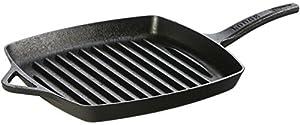 lodge dishwasher safe seasoned cast iron grill pan 11 inch rust resistant. Black Bedroom Furniture Sets. Home Design Ideas