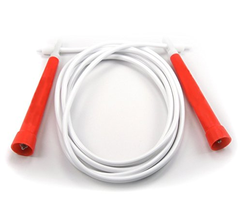 BuyJumpRopes Boxers Jump Rope, Red/White