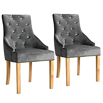 WT Trade - Juego de 2 sillas de Comedor de diseño con ...
