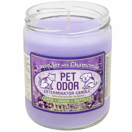 Pet Odor Exterminator Candle, Lavender with Chamomile,13 oz (Best Odor Eliminating Candles)