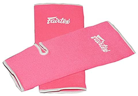 Fairtex Ankle Guard Thai Boxing Support Protector for Muay Thai, K-1, MMA, Boxing, Kickboxing Pink One Size (Pink, One (Fairtex Muay Thai Ankle Supports)