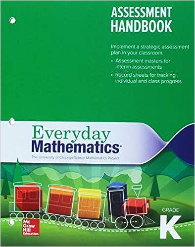 Everyday Mathematics 4 Grade K Assessment